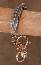 West & Co. Bracelet, Copper Feather Toggle