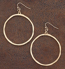 West & Co. Earrings, Burnished Gold Circle Outline