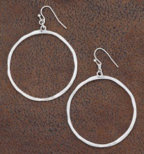 West & Co. Earrings, Silver Circle Outline
