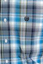 Men's Cinch L/S, Blue, White and Navy Plaid