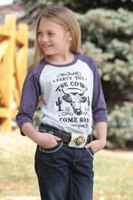 Girl's Cruel Girl Tee, 'Till the Cows Come Home, Raglan
