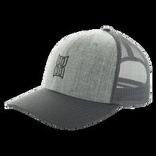 Men's Bex Cap, Stitch, Gray Trucker, Black Logo