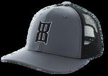 Men's Bex Cap, Gray w/ Black Mesh, Black Logo, Badlands