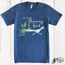 Women's Ranch Swag Tee, The Runnin' Kind, Heather Navy