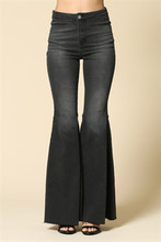 Women's By Together Jeans, Super Flared Bells, Black Denim