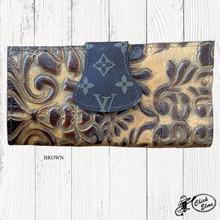 Keep it Gypsy Wallet, Tooled, LV Flap Closure