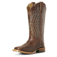 Women's Ariat Boot, Montage Adobe Crackle, Brown Square Toe