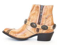 Women's Miss Macie Boots, Sunset Dancer, Tan Bootie, Conchos