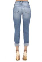 Women's KanCan Jeans, Skinny Light Wash, Distressed, Cuffed Hem