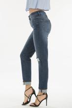 Women's KanCan Jeans, Dark Wash, 5 Button, Distressed