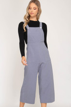 Women's She+Sky Overalls, Zippered Back, Pockets