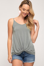Women's She+Sky Tank, Front Twist, Open Back