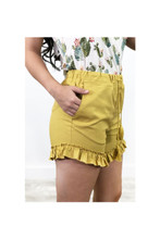 Women's L&B Shorts, Ruffled trim with Tassel String