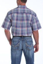 Men's Cinch S/S, Blue Plaid