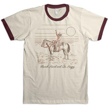 Men's Dale Brisby Tee, Ranch Hard Be Happy