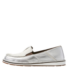 Women's Ariat Cruiser, Silver with White and Silver Hide