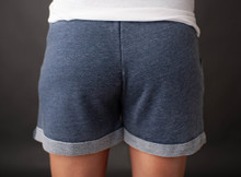 Women's GINA Shorts, Bronco, Boyfriend Fit, Blue