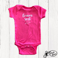 Infant E&G Onesie, Heaven Sent, Hot Pink