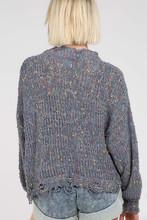 Women's POL Sweater, Distressed Confetti