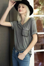 Women's POL Tee, V Neck with Pocket