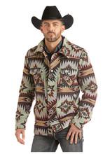 Men's Powder River Jacket, Wool Commander, Aztec Jacquard