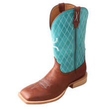 Men's Twisted X Boot, Hooey, Light Blue Shaft with Tan Vamp