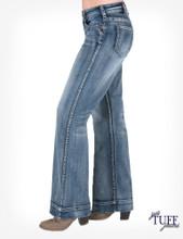 Women's Cowgirl Tuff Jeans, Just Tuff Breathe, Trouser, Medium Wash