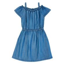 Girls Wrangler Dress, Chambray with Ruffled Details