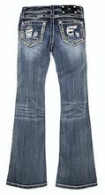 Girls Miss Me Jeans, Gold Sequins Distressed Pocket