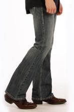 Men's Rock & Roll Jeans, Medium Wash, Regular Boot Cut, Gray Stitch