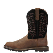 Men's Ariat Boot, Groudbreaker Pull On, Brown Round Toe