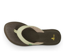 Women's Sanuk Sandal, Yoga Chakra, Light Natural