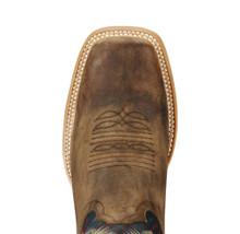 Men's Ariat Boot, Chute Boss Brown, Blue Top, Square Toe