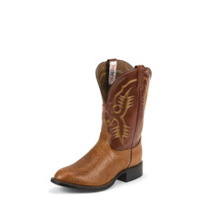 Men's Tony Lama Boot, Dark Brown, Shrunken Shoulder, Round Toe