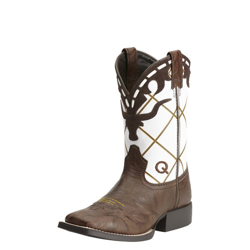 Boys Ariat Boot, Longhorn/Brown