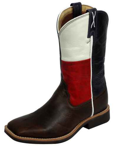 Youth Twisted X Boot, Texas Flag