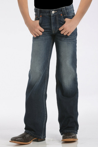 Kids Cinch Jeans, Carter II, Slim, Dark Stonewash