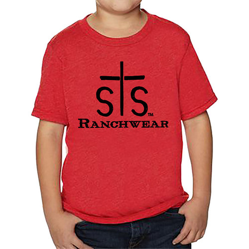 Kids STS Tee, Red with Logo