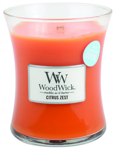 Wood Wick Candle, Citrus Zest, Medium Hourglass