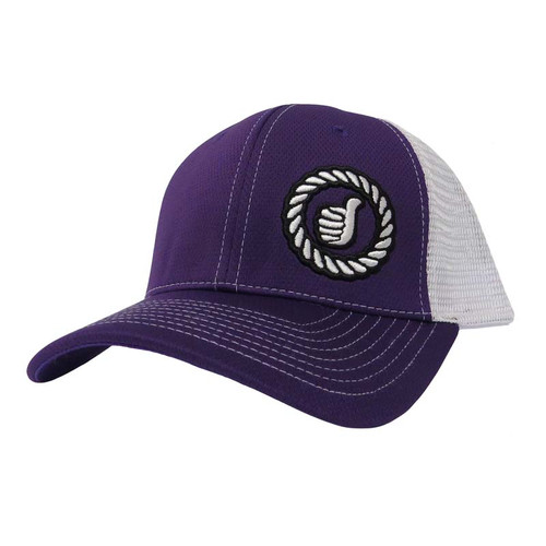 Men's Dally Up Cap, Purple/White, Round Logo