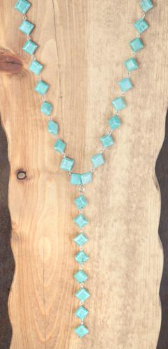 West & Co. Necklace, Turquoise Diamond Chunks