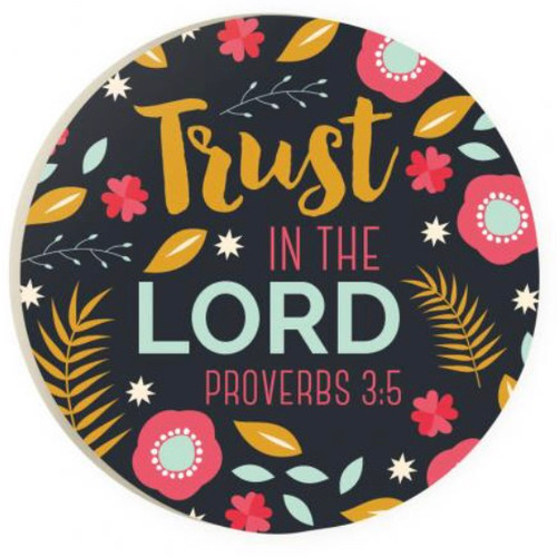 PGD Car Coaster Singles, Trust in the Lord
