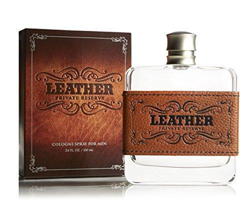 Tru Fragrance Cologne, Leather, 3.4 oz