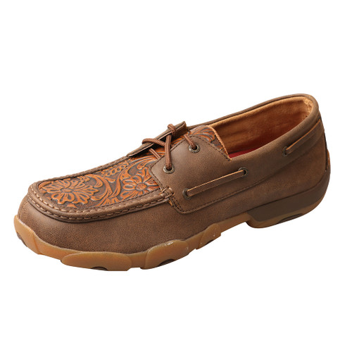 Men's Twisted X Driving Moc, Tooled Floral