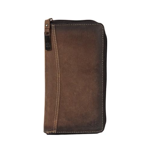 Men's STS Wallet, Distressed Brown, Passport Holder