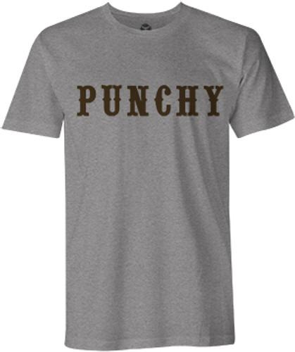 "Men's Hooey Tee, ""Punchy"" Heather Gray with Orange Logo"