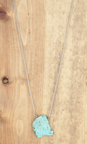 West & Co. Necklace, Silver, Turquoise Stone