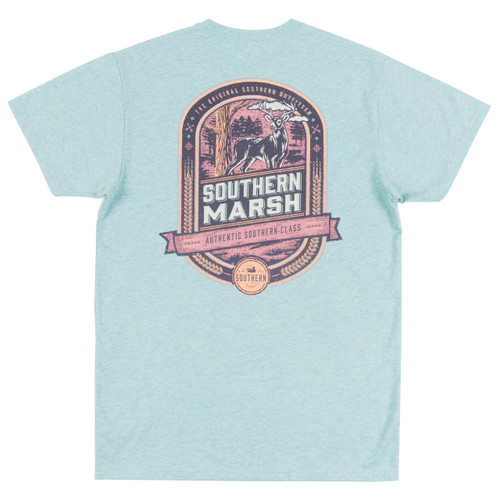 Men's Southern Marsh Tee, Deer Hunting, Moss Blue