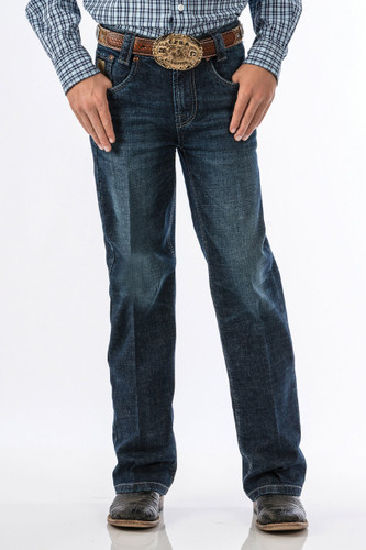 Boy's Cinch Jean, Carter, Dark Stonewash, Regular