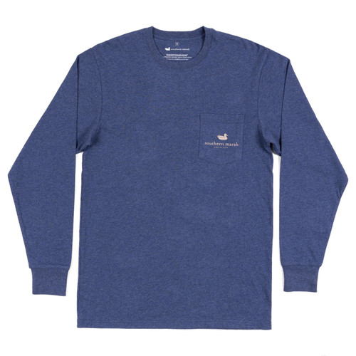 Men's Southern Marsh L/S, Navy, Rack